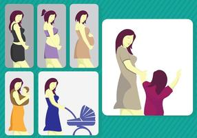 Maternité Mom Stade Vector