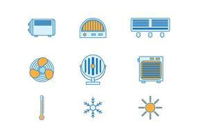 Heater vecteur libre icônes