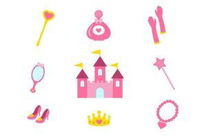 Princesse libre icônes vectorielles vecteur