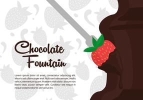 Fontaine de chocolat vecteur de fond