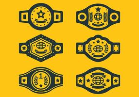 Championnat ceinture Icônes vecteur libre