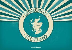 Edinburgh Scotland Retro Illustration vecteur