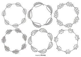 Cadres Feuille décorative Sketchy vecteur