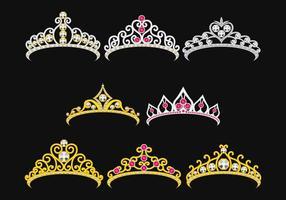 Set Of Princesa Crownn vecteur