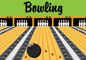 Retro Bowling Lane Vector