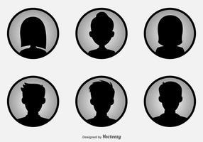 Headshot icônes vectorielles vecteur