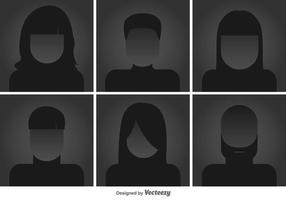Headshots Flat icônes vectorielles vecteur