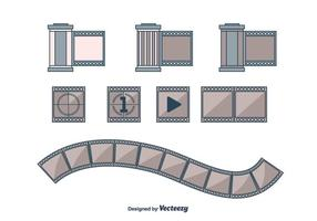 Flat Film Bidon Icônes vecteur