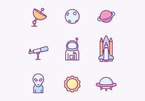 Outer Space Icons gratuit vecteur