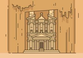 Ancient Petra Vector Illustration