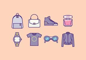 Icônes de mode gratuit vecteur