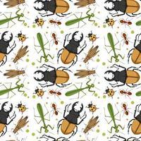 motif d'insectes différents vecteur