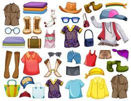 ensemble de tenues et accessoires de mode