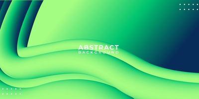 3d forme liquide vague verte abstrait vecteur