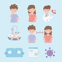 ensemble de prévention des coronavirus