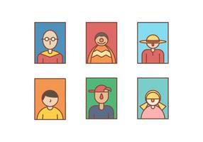 Tête gratuit Portrait Vecteurs vecteur