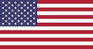 drapeau isolé usa