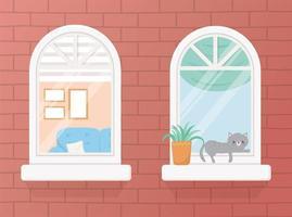 ensemble de fenêtres d'appartement