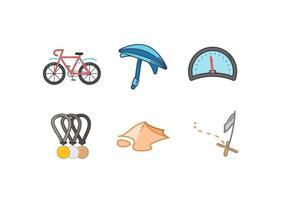 Vecteurs de course de vélo gratuit vecteur