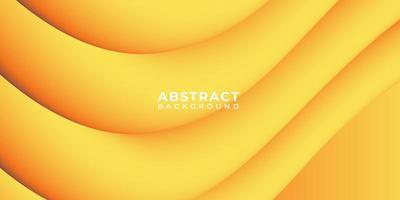 bannière de fond abstrait vague de forme de tube 3d jaune vecteur