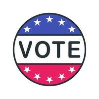 icône de cercle de contour de vote vecteur