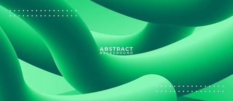formes de tube 3d vert fond liquide abstrait vecteur