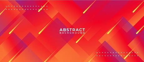 Abstrait de forme géométrique multicolore rouge vif vecteur