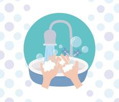 prévention des coronavirus avec lavage des mains