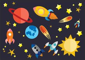 Gratuit Flat Space Vector Illustration