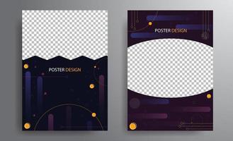 conception d'affiche avec fond géométrique