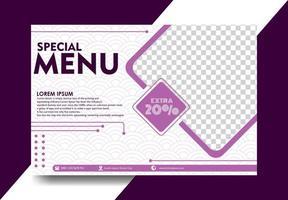 bannière de paysage de couleur violette