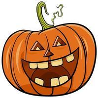illustration de dessin animé de personnage de citrouille halloween vecteur