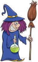 illustration de dessin animé de personnage halloween sorcière vecteur