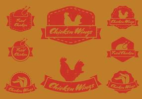 Badge Vintage Wing Chicken vecteur