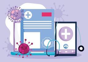 concept de soins de santé en ligne