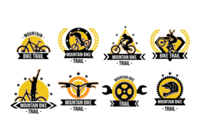 Bike Trail Labels Vector