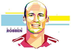 Arjen Robben Wpap Portrait Vecteur