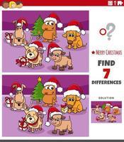 tâche éducative des différences pour les enfants avec des chiens