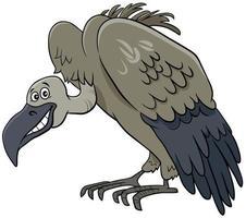 personnage de dessin animé animal oiseau vautour vecteur