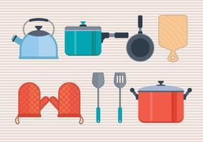 Icônes de vecteur de cuisine réglées