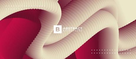formes de tube courbe blanche sur fond rouge vecteur