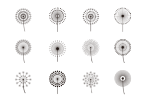 Simple blowball Icons Vector