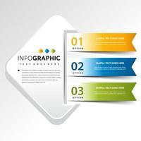 infographie avec illustration vectorielle 3 bannières vecteur