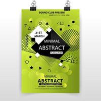 affiche abstraite minimale verte vecteur