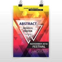 affiche géométrique minimale abstraite vecteur