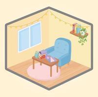 intérieur de maison confortable vecteur
