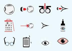 Optometry Icons Set vecteur