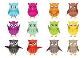 Owl Vector Character Pack Vector