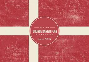 Style grunge drapeau danois vecteur