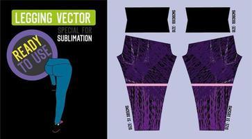 modèle de pantalon de fitness sport pour femmes vecteur